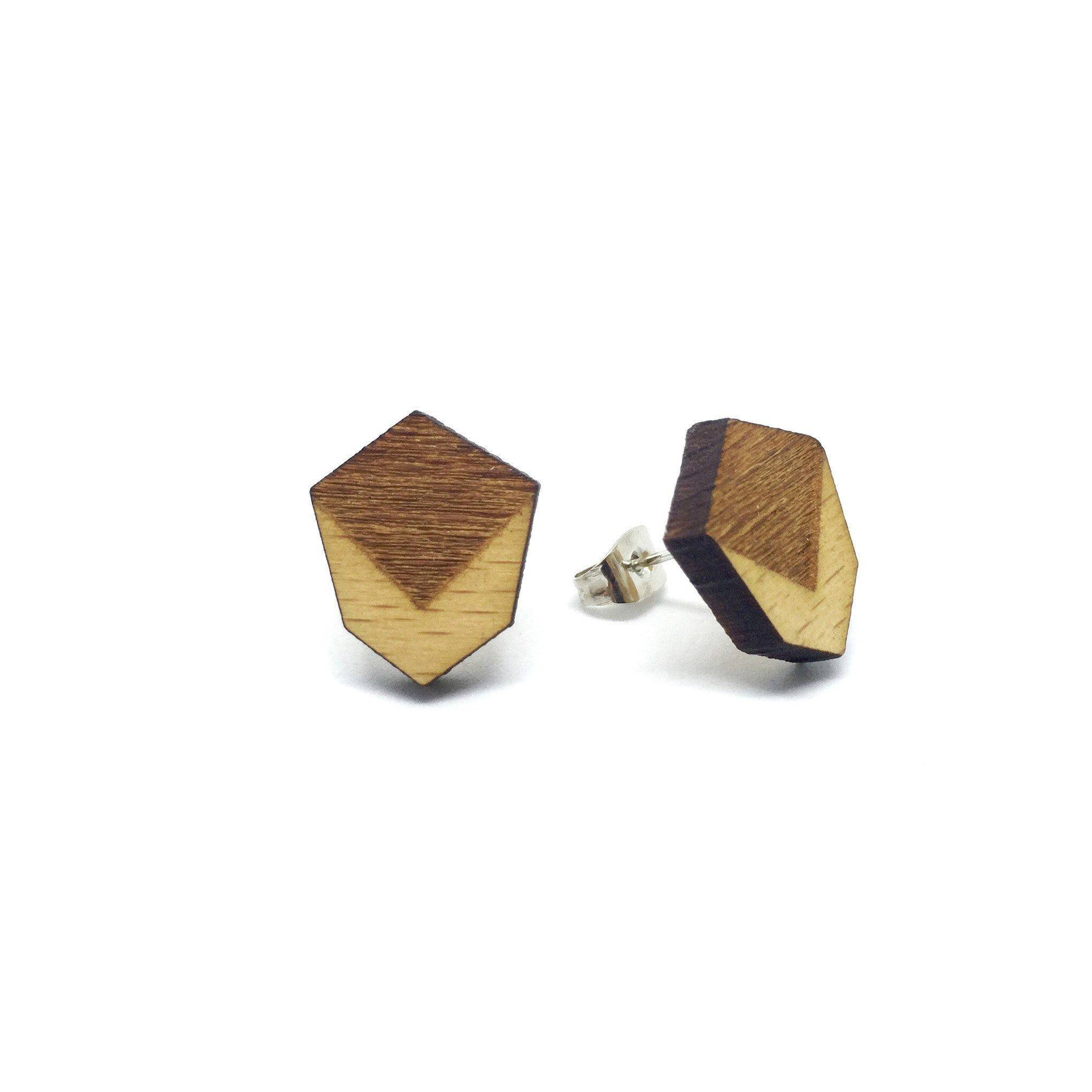Minimalist Geometric Laser Cut Wood Earrings - Earrings - Paperdaise Accessories - Naiise