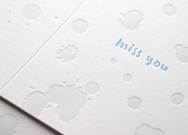 Miss You - Tears in Rain Card - Miss You Cards - ditto ditto - Naiise