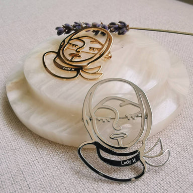 Modern Hijabi Girl Brooch - Brooches - Lady N Jewelry - Naiise