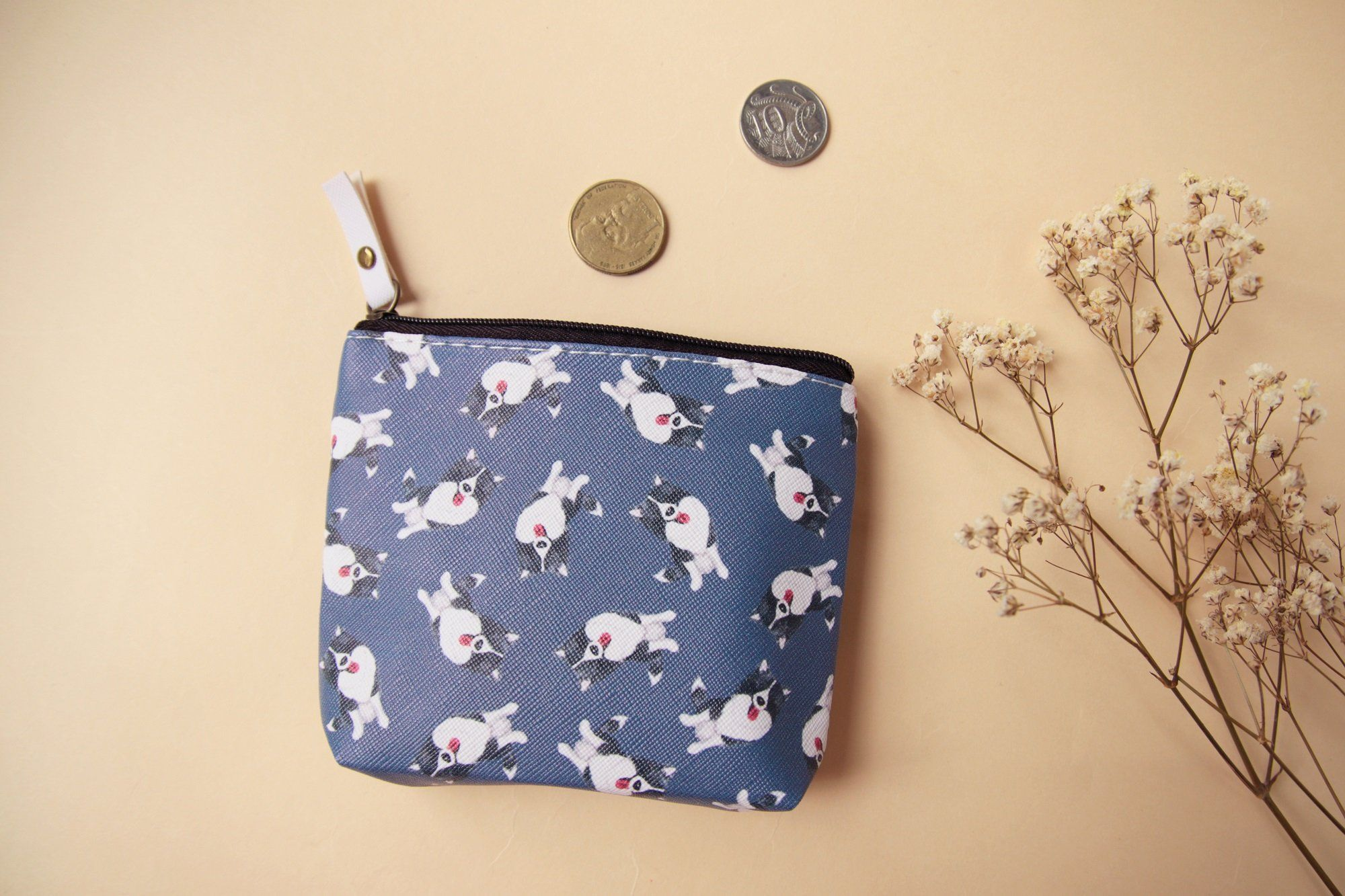 Momo Border Collie Coin Bag Coin pouches hopnbounce