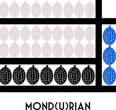 Mondrian Durian – Mond(u)rian Print - New Arrivals - Big Red Chilli - Naiise