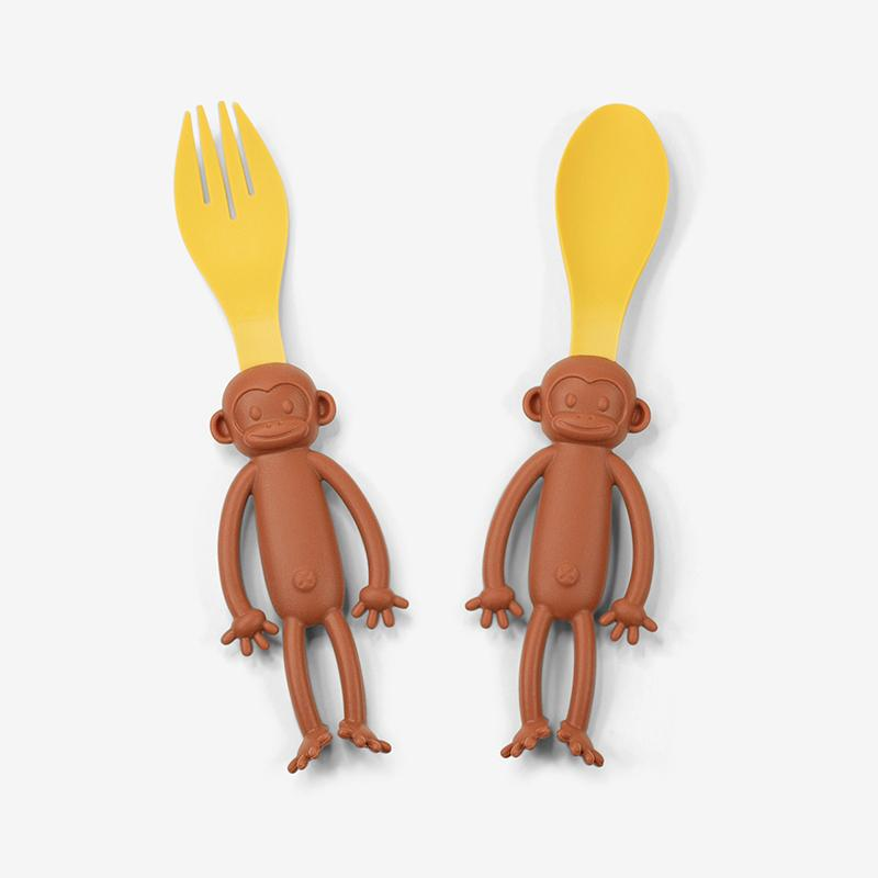 Monkey Spoon & Fork Set Children Cutlery The Daydreamer Studio