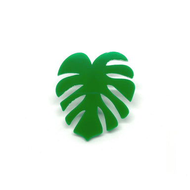 Monstera Leaf Laser Cut Acrylic Brooch Pin - Brooches - Paperdaise Accessories - Naiise