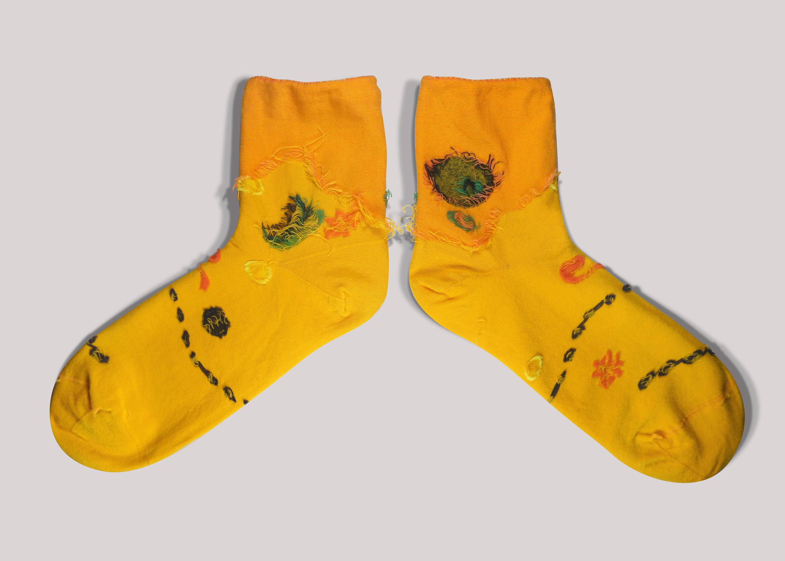 Moon & Sun Reebok Gold Socks - Socks - GoodPair - Naiise