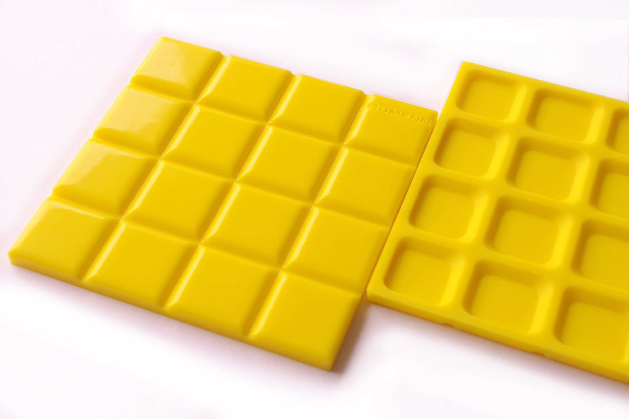 Mosaic Tile Rubber Coaster (Pack of 2) - Yellow - Naiise