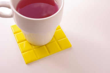 Mosaic Tile Rubber Coaster (Pack of 2) - Yellow - Coasters - Rumenn - Naiise