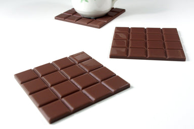 Mosaic Tile Rubber Coaster (Pack of 6) - Chocolate Coasters Rumenn