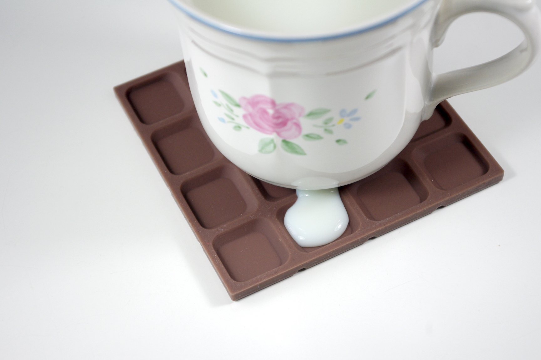 Mosaic Tile Rubber Coaster (Pack of 6) - Chocolate - Coasters - Rumenn - Naiise