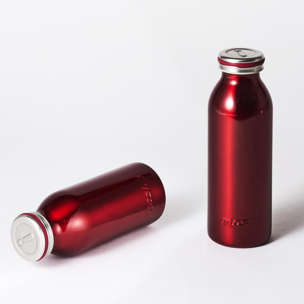 MOSH! Stainless Steel Water Bottle - Pearl Red Water Bottles MOSH!