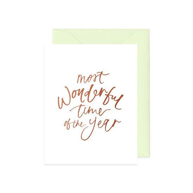 Most Wonderful Time of the Year Card Christmas Cards Mint & Ordinary