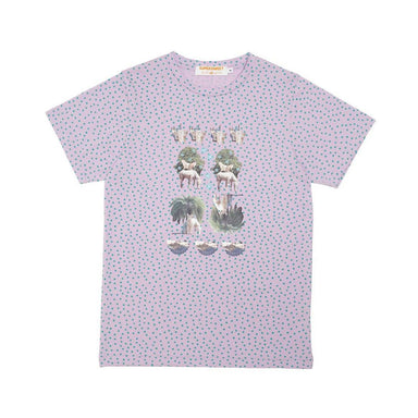 Moumi & Friends Green Dotted Tee T-shirts By Moumi