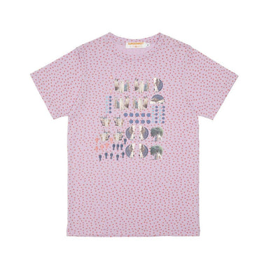 Moumi & Friends Pink Dotted Tee T-shirts By Moumi