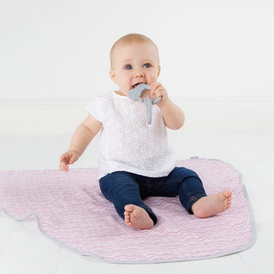 MultiMuslin Rosy Days Swaddles Cheeky Chompers