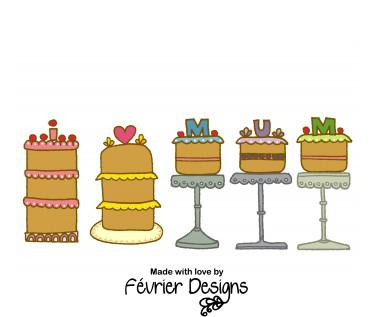 Mum Cake Stand Card - Cards for Mothers - Fevrier Designs - Naiise