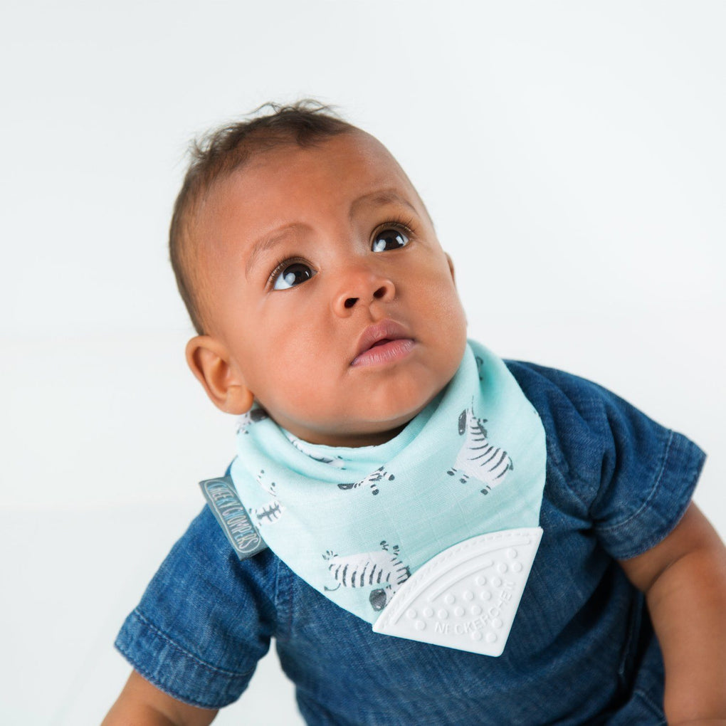 Muslin Neckerchew Zebra Dreams Bibs Cheeky Chompers