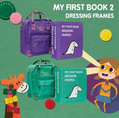 My First Book 2-Dressing Frames Children Books Naomi Wear Purple