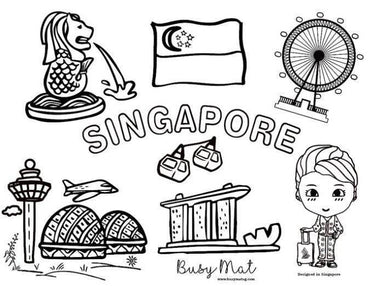 My Home, Singapore Busy Mat - Kids Activity Kits - Busy Mat - Naiise
