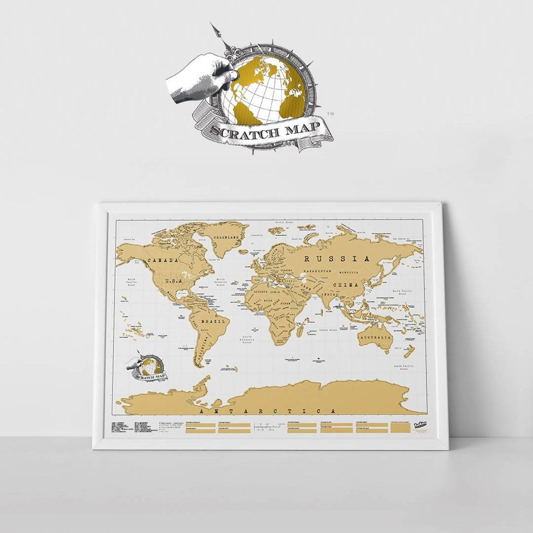 Scratch Maps Original Scratch Maps The Planet Collection