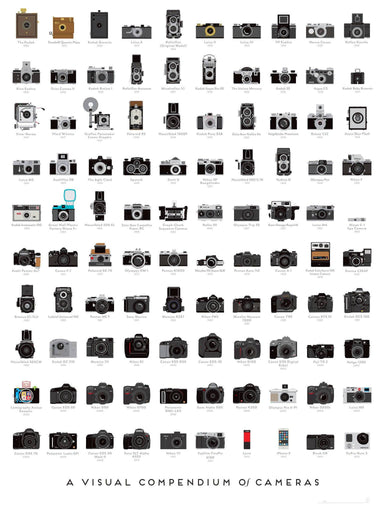 Pop Chart Lab - A Visual Compendium Of Cameras Poster - Posters - The Planet Collection - Naiise