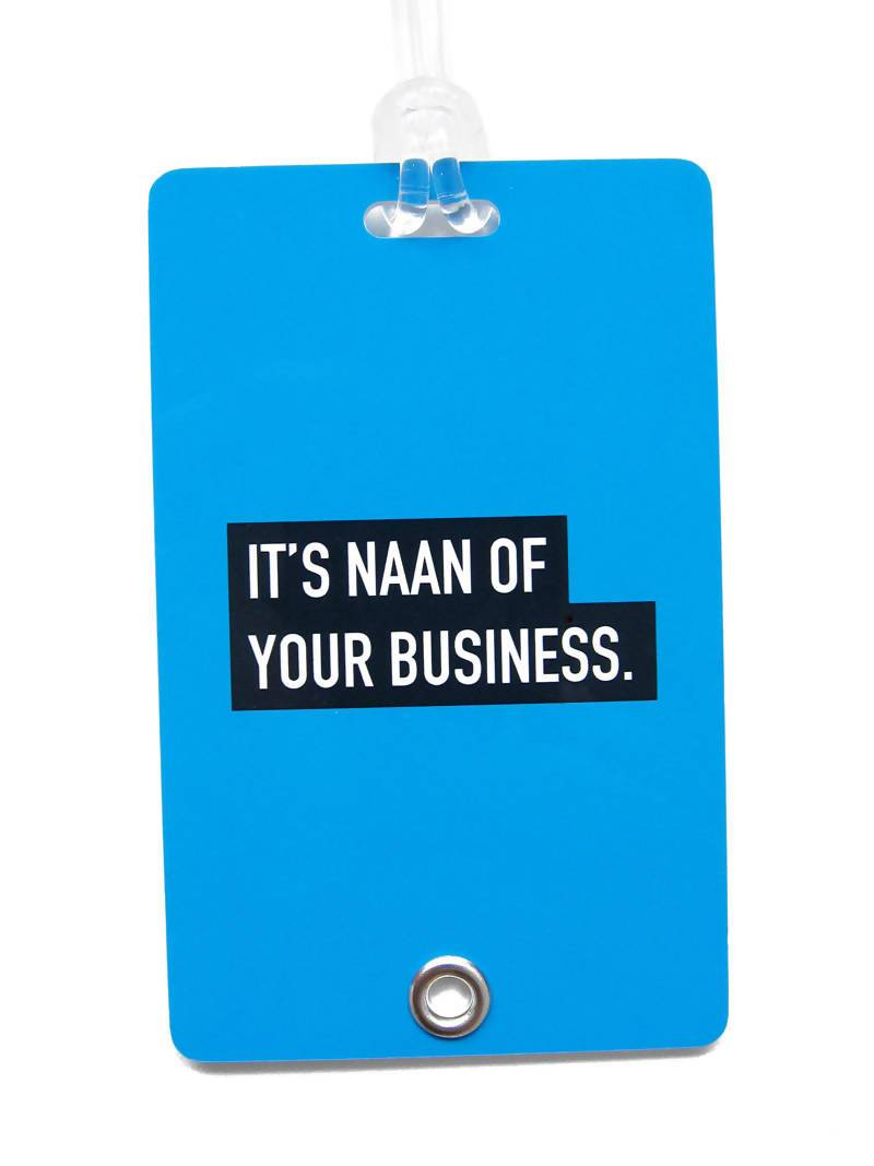 Naan Punny Luggage Tag Local Luggage Tags LOVE SG