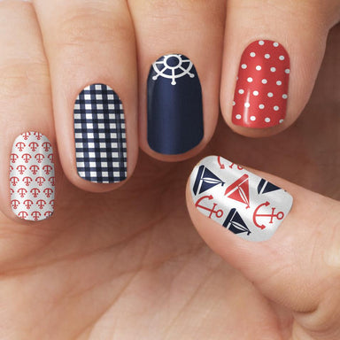 Nautical Nail Wrap - Nail Wraps - Personail - Naiise