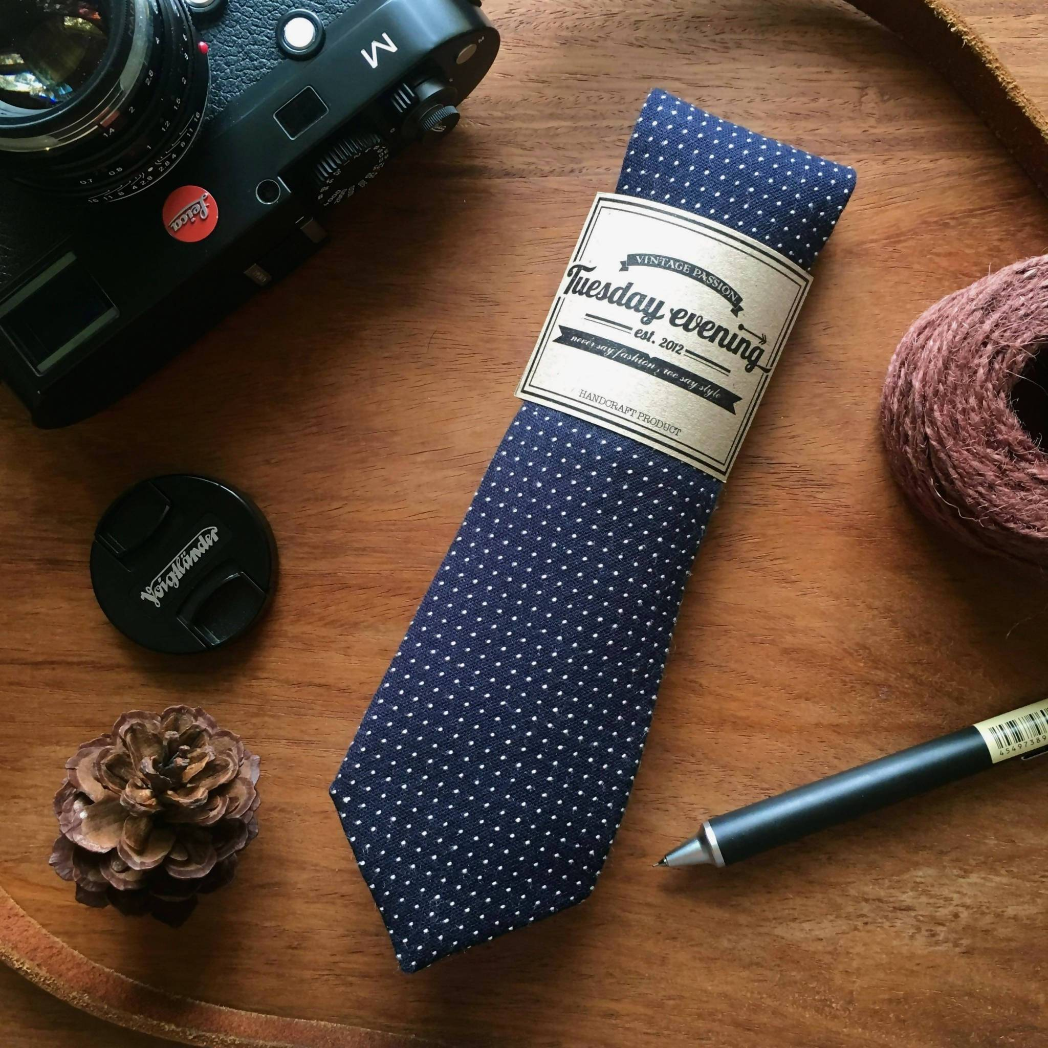 Navy Blue Tie To Toe Set - Ties - Tuesday Evening - Naiise