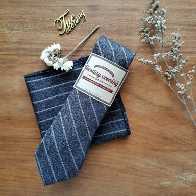 Navy Jean String Set - Ties - Tuesday Evening - Naiise