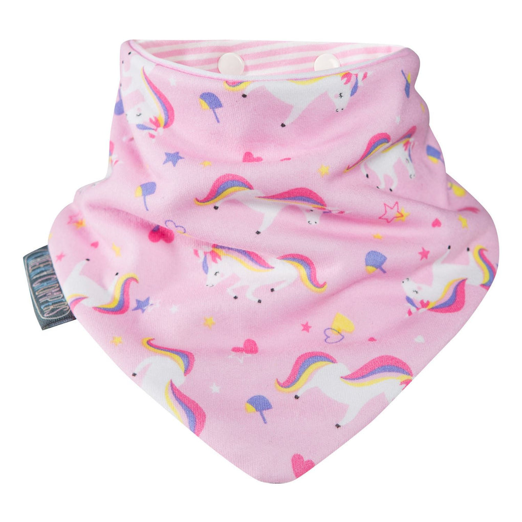 Neckerbib Unicorn Love & Polka Dot Pink Bibs Cheeky Chompers