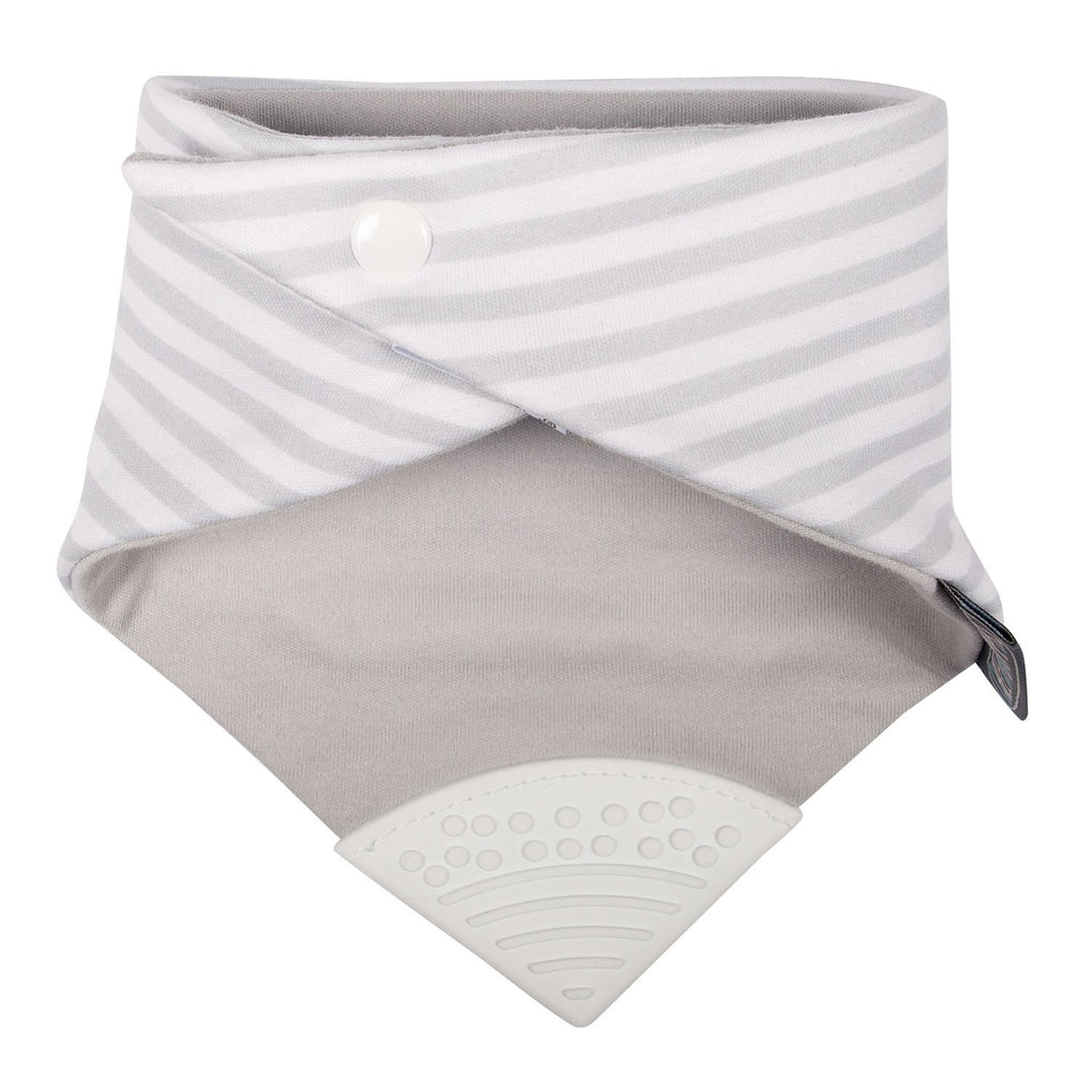 Neckerchew Grey Stripes Bibs Cheeky Chompers