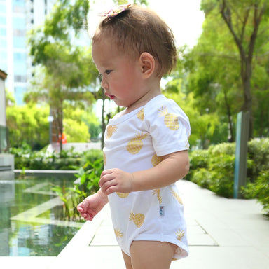 Nenas Onesie in White (Pre-Order) - Kids Clothing - Anak & I - Naiise