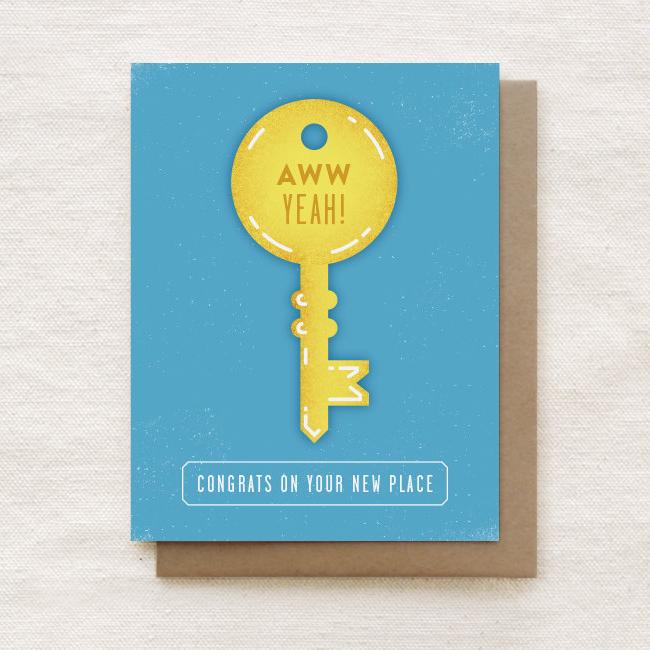 New Place - Congratulations, Housewarming Greeting Card - Congratulations Cards - Quirky Paper Co. - Naiise