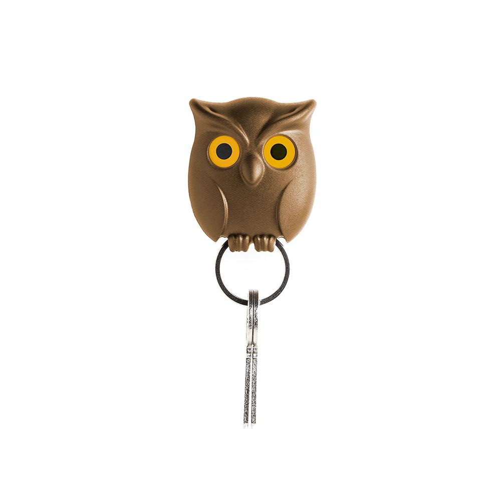 Night Owl Key Holder Key Holders Qualy Brown