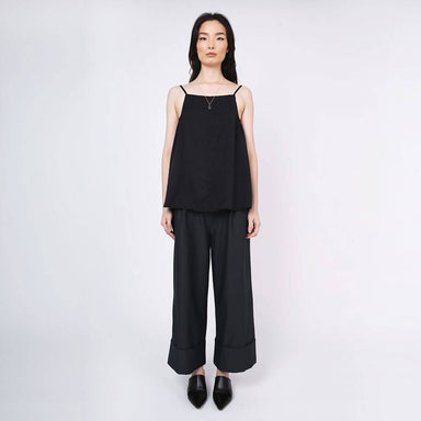 Nikko Square Neckline Cami Top in Tricorn Black - Tops - Salient Label - Naiise