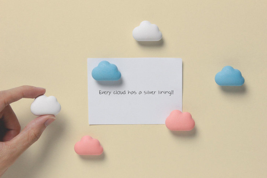 Note on the Cloud Magnet Set - Pastel Home Decor Qualy