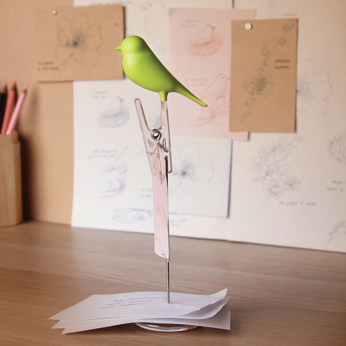 Note Sparrow Note Holder Desk Organisation Qualy