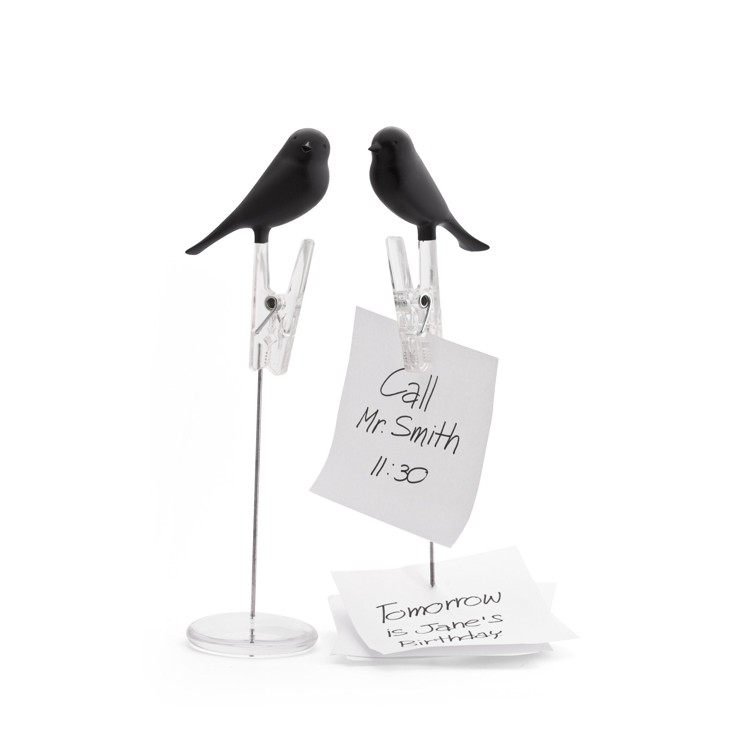 Note Sparrow Note Holder Desk Organisation Qualy Black