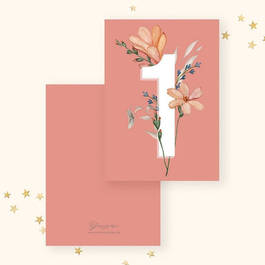 Number 1 Card Generic Greeting Cards YOUNIVERSE DESIGN