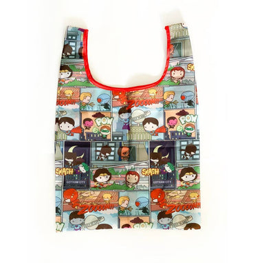 Justice League Comic Foldable Bag - Tote Bags - Ok Can Lah - Naiise