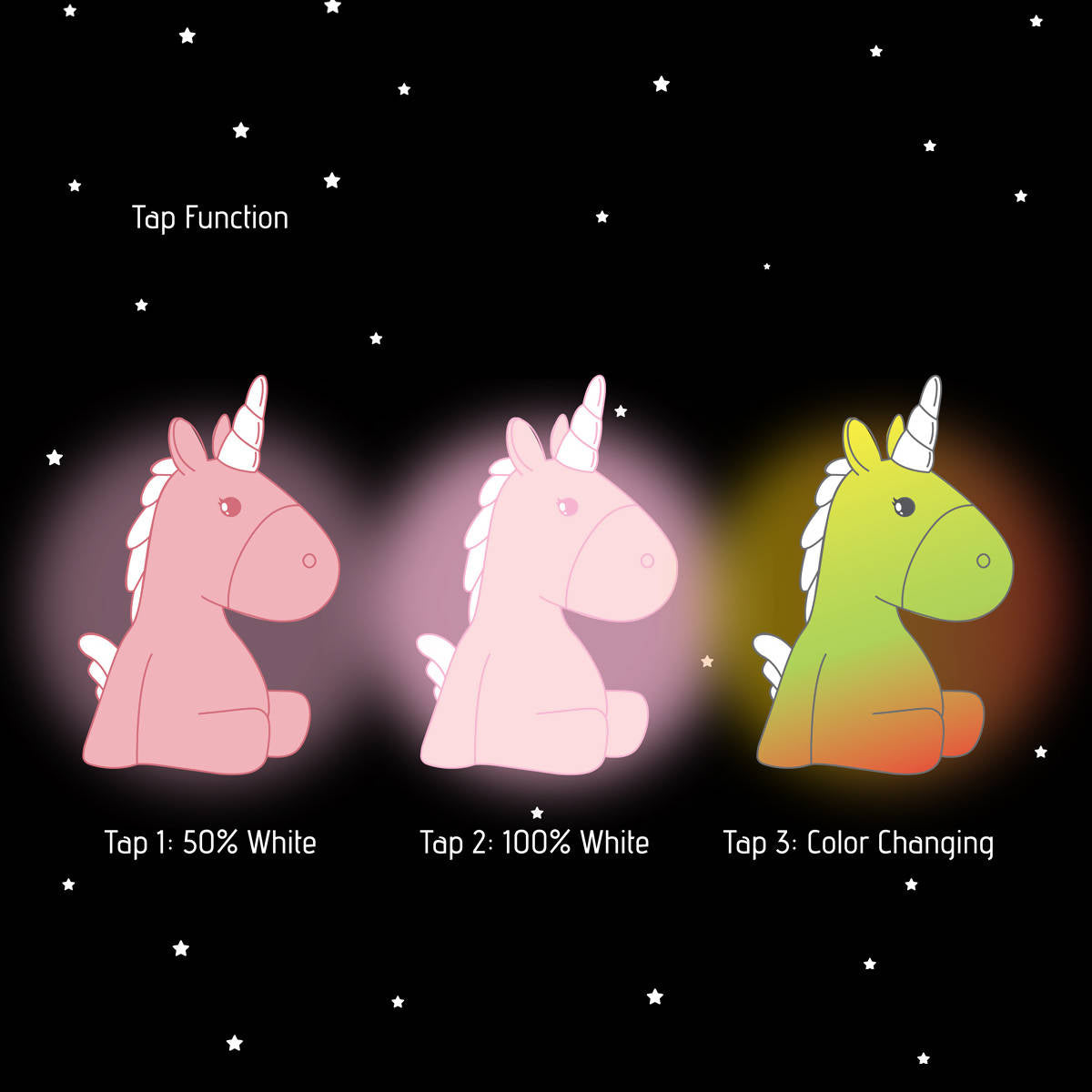 Dhink Unicorn Night Light Pink