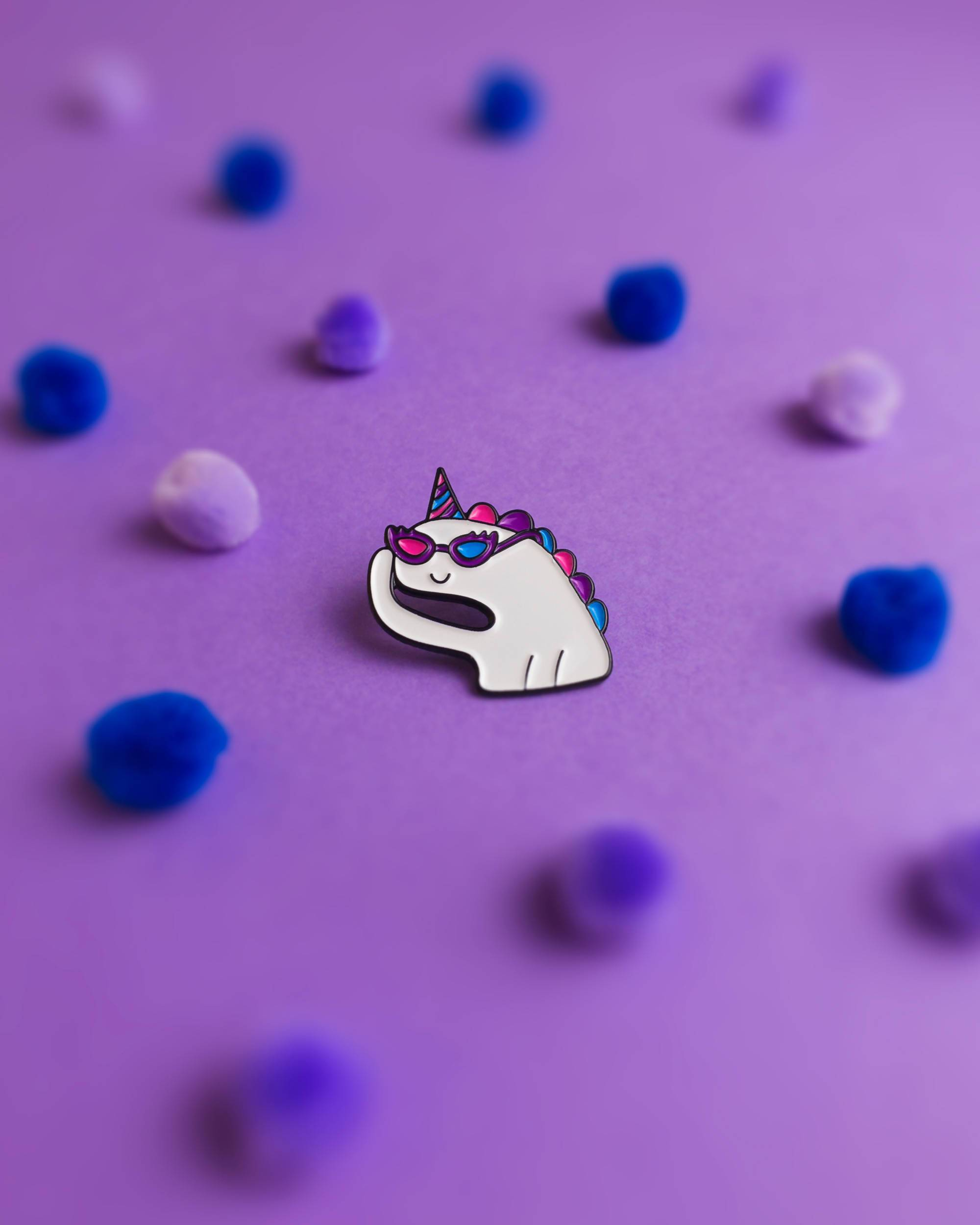 Oh bi unicorn Pins Heckin' Unicorn