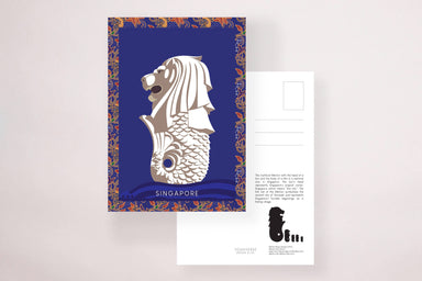 Kebaya Merlion Postcard - Local Postcards - YOUNIVERSE DESIGN - Naiise
