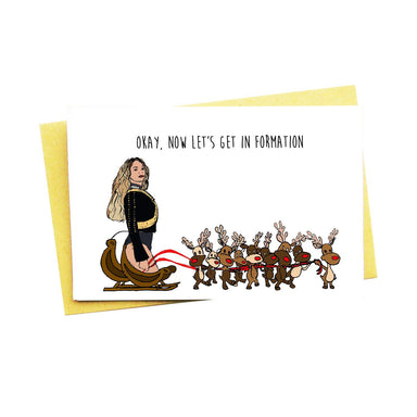 Okay Now Let's Get In Formation Christmas Card - Christmas Cards - Nocturnal Paper - Naiise