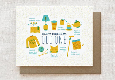 Old One - Happy Birthday Greeting Card Birthday Cards Quirky Paper Co.
