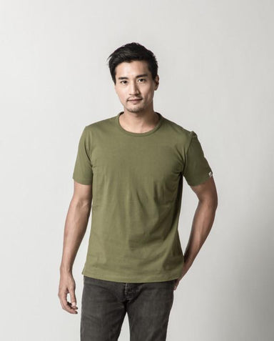 Olive Green Signature Tee ATSS1505 Men's T-shirts Cut & Paste
