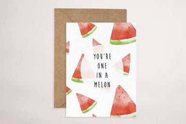 One In A Melon(White) Card Generic Greeting Cards YOUNIVERSE DESIGN