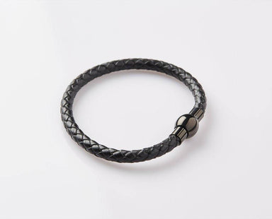 Onyx coloured Uni-bead Clasp Bracelet - JEM-317028-BLK Men's Bracelets J By Jee