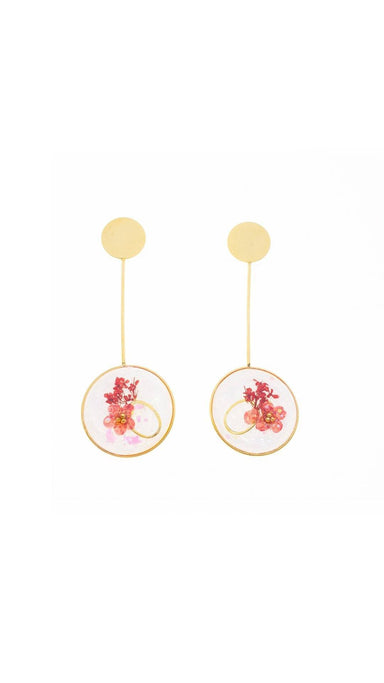 Open Circle Drop Earrings - Gold Earrings Blaack Fox