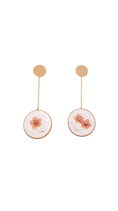 Open Circle Drop Earrings - Rose Gold Earrings Blaack Fox