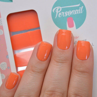 Orange Nail Wrap - Nail Wraps - Personail - Naiise
