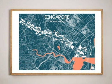 Orchard Road Map - Navy - Local Prints - URBAN X MAPS - Naiise